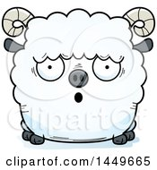 Cartoon Surprised Ram Sheep Character Mascot