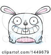 Cartoon Grinning Bunny Rabbit Hare Character Mascot
