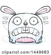 Cartoon Scared Bunny Rabbit Hare Character Mascot