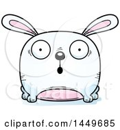 Cartoon Surprised Bunny Rabbit Hare Character Mascot
