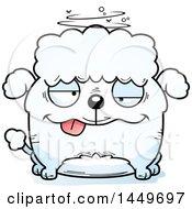 Cartoon Drunk Poodle Dog Character Mascot