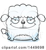 Cartoon Evil Poodle Dog Character Mascot