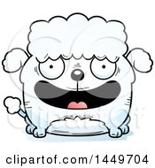 Clipart Graphic Of A Cartoon Happy Poodle Dog Character Mascot Royalty Free Vector Illustration by Cory Thoman