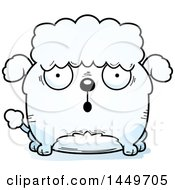 Cartoon Surprised Poodle Dog Character Mascot