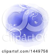 Clipart Graphic Of A Watercolor Floral And Hearts Design Royalty Free Vector Illustration