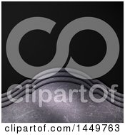 Clipart Graphic Of A Black Carbon Fiber And Ornate Metal Curve Background Royalty Free Illustration