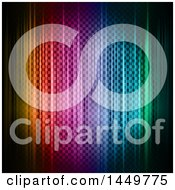 Clipart Graphic Of A Background Of Colorful Lights And Checkers Royalty Free Vector Illustration