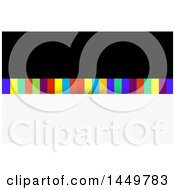 Clipart Graphic Of A Black And Colorful Stripes Business Card Design Or Background Royalty Free Vector Illustration by KJ Pargeter