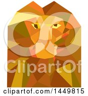 Clipart Graphic Of A Geometric Low Polygon Styled Male Lion Head Royalty Free Vector Illustration