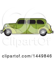 Clipart Graphic Of A Vintage Green Car Royalty Free Vector Illustration by Lal Perera