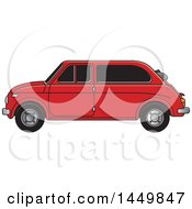 Clipart Graphic Of A Vintage Red Car Royalty Free Vector Illustration by Lal Perera