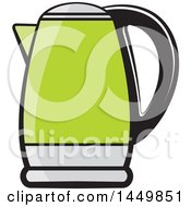 Clipart Graphic Of A Green Kettle Royalty Free Vector Illustration by Lal Perera