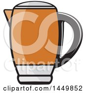 Clipart Graphic Of An Orange Kettle Royalty Free Vector Illustration by Lal Perera
