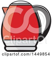 Clipart Graphic Of A Red Kettle Royalty Free Vector Illustration by Lal Perera
