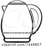 Clipart Graphic Of A Black And White Kettle Royalty Free Vector Illustration by Lal Perera