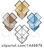 Diamond Of Open Boxes