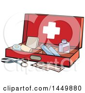 Clipart Graphic Of A First Aid Kit Royalty Free Vector Illustration by Lal Perera