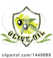 Clipart Graphic Of A Black Olive Oil Design Royalty Free Vector Illustration