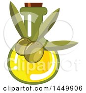 Clipart Graphic Of A Green Olive Oil Design Royalty Free Vector Illustration by Vector Tradition SM