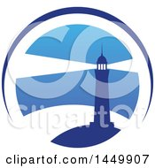 Clipart Graphic Of A Blue Lighthouse Design Royalty Free Vector Illustration by Vector Tradition SM
