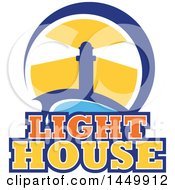 Light House Design With Text