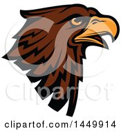 Profiled Brown Eagle Mascot Head