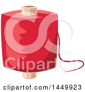 Clipart Graphic Of A Spool Of Red Thread Royalty Free Vector Illustration by Vector Tradition SM