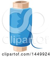 Clipart Graphic Of A Spool Of Blue Thread Royalty Free Vector Illustration by Vector Tradition SM