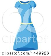 Clipart Graphic Of A Sewn Blue Dress Royalty Free Vector Illustration by Vector Tradition SM