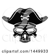 Clipart Graphic Of A Black And White Pirate Skull Royalty Free Vector Illustration