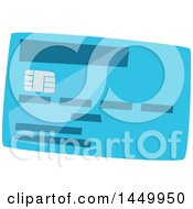 Blue Credit Or Debit Card With A Chip