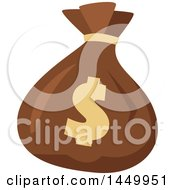 Clipart Graphic Of A Usd Dollar Sign On A Money Bag Royalty Free Vector Illustration
