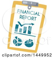 Poster, Art Print Of Financial Report On A Clipboard