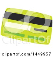 Clipart Graphic Of A Green Credit Or Debit Card Royalty Free Vector Illustration