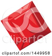 Clipart Graphic Of A Red Ruby Royalty Free Vector Illustration