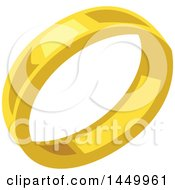 Clipart Graphic Of A Gold Wedding Band Royalty Free Vector Illustration by Vector Tradition SM