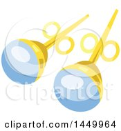 Clipart Graphic Of A Pair Of Earrings Royalty Free Vector Illustration
