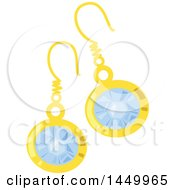 Clipart Graphic Of A Pair Of Diamond Earrings Royalty Free Vector Illustration
