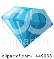 Clipart Graphic Of A Blue Sapphire Royalty Free Vector Illustration by Vector Tradition SM