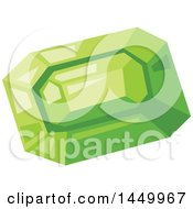 Clipart Graphic Of A Green Emerald Royalty Free Vector Illustration by Vector Tradition SM