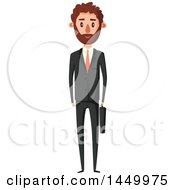 Clipart Graphic Of A Tall Slender White Business Man Royalty Free Vector Illustration by Vector Tradition SM