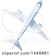 Clipart Graphic Of A Flying Airplane Royalty Free Vector Illustration by Vector Tradition SM