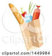 Clipart Graphic Of A Paper Bag Of Groceries Royalty Free Vector Illustration by Vector Tradition SM