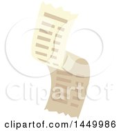 Clipart Graphic Of A Purchase Receipt Royalty Free Vector Illustration