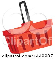 Clipart Graphic Of A Red Shopping Basket Royalty Free Vector Illustration by Vector Tradition SM