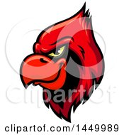 Clipart Graphic Of A Red Cardinal Mascot Head Royalty Free Vector Illustration by Vector Tradition SM