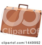 Clipart Graphic Of A Brown Suitcase Royalty Free Vector Illustration