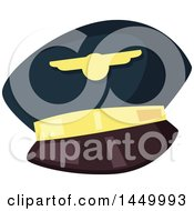 Clipart Graphic Of A Pilot Hat Royalty Free Vector Illustration by Vector Tradition SM