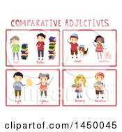 Poster, Art Print Of Educational Comparative Adjective Flash Cards