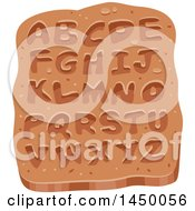 Clipart Graphic Of An Ancient Stone Tablet Wiht Alphabet Letters Royalty Free Vector Illustration